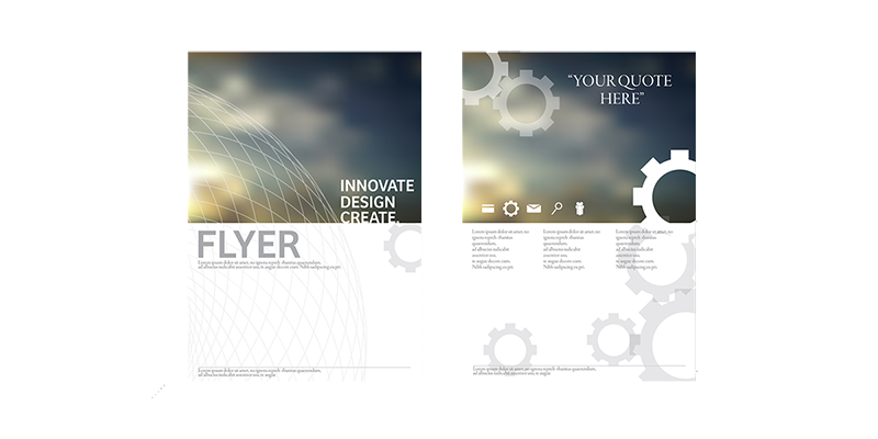 a print flyer template - the starting point for building brand identity